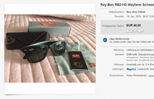 Ray Ban Sonnenbrille echt oder fake?