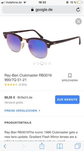 Ray Ban Sonnenbrille Erfahrungen?