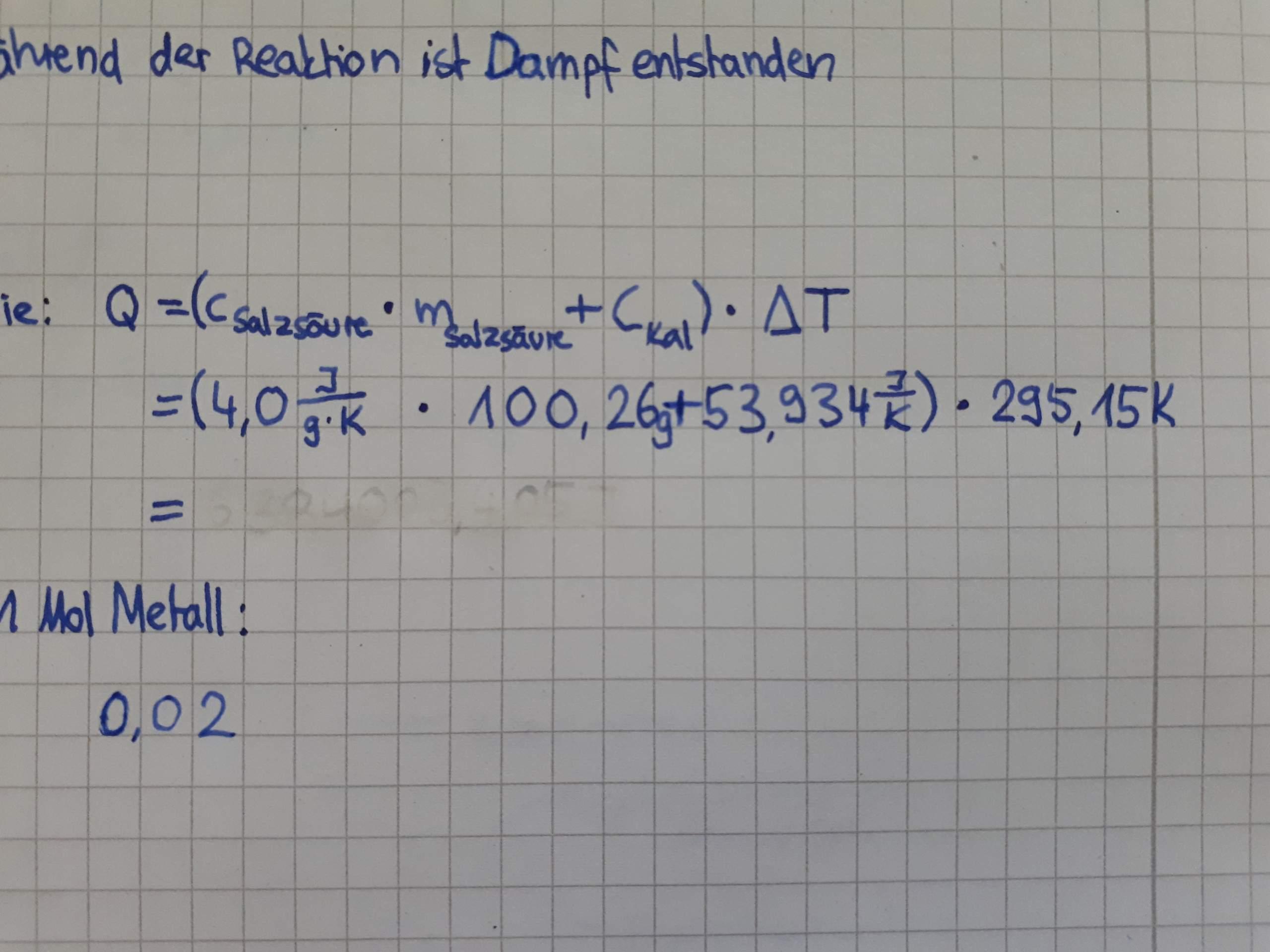Reaktionsenthalpie Mit Kelvin oder Celsius berechnen Schule ...
