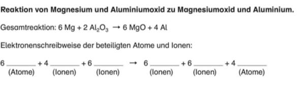 Reaktionsgleichung Chemie (9.Klasse)?