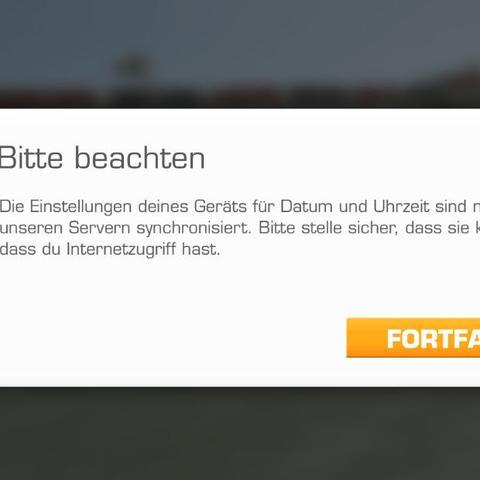 Die Meldung kommt auch, wenn ich das Spiel mit Internet starte - (iPhone, Real Racing 3, real racing)