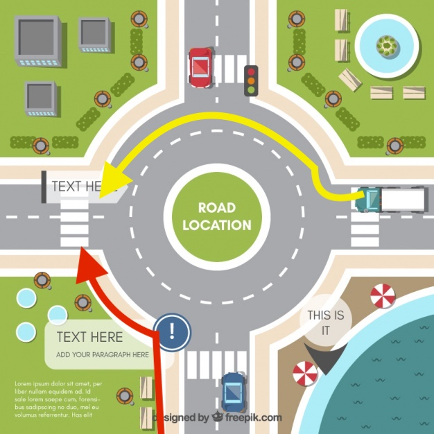 Fußgänger Im Kreisverkehr