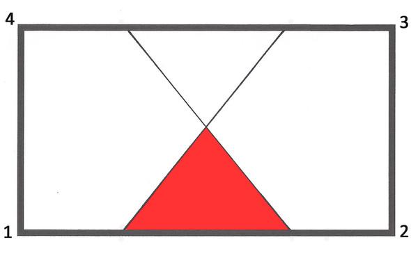 rechteck falten und fl che des entstandenen dreiecks. Black Bedroom Furniture Sets. Home Design Ideas