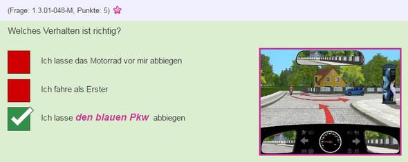 Situation 1 - (Auto, Lehrer, Verkehr)