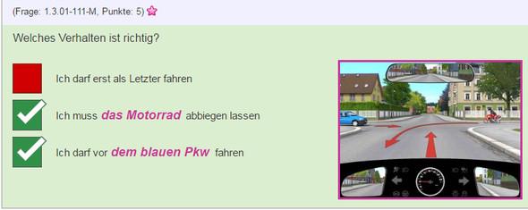 Situation 4 - (Auto, Lehrer, Verkehr)