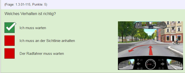 Situation 5 - (Auto, Lehrer, Verkehr)