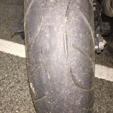 Mein Reifen unmittelbar danach - (Recht, Moped, Rechtslage)