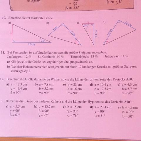Aufgabe 12 Nummer c,d & e - (Schule, Mathe, Mathematik)
