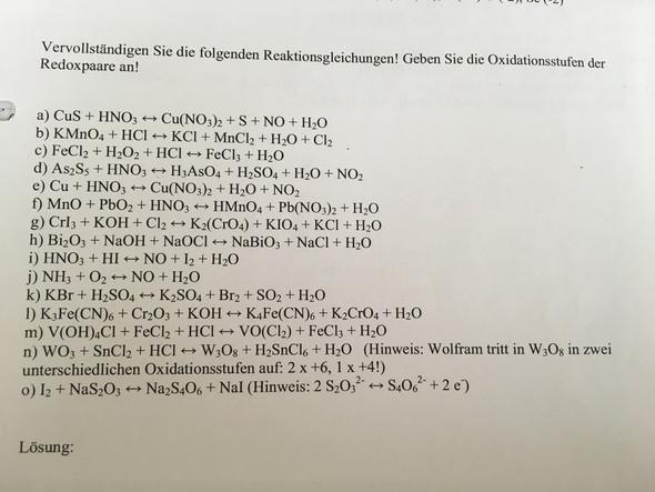 hh.. - (Chemie, Gleichungen, ausgleich)
