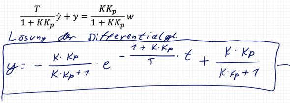 Regelungstechnik - Differentialgleichung?