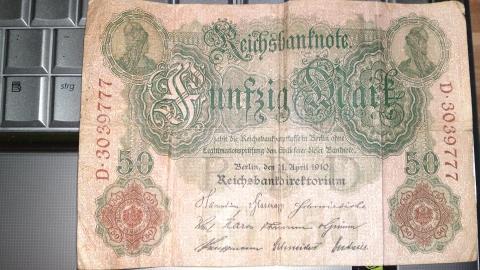 Reichsbanknote 50 Mark von 1910 ---- wert?