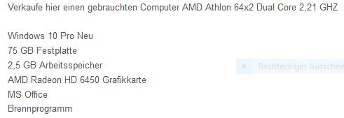Beschreibung - (Computer, PC)
