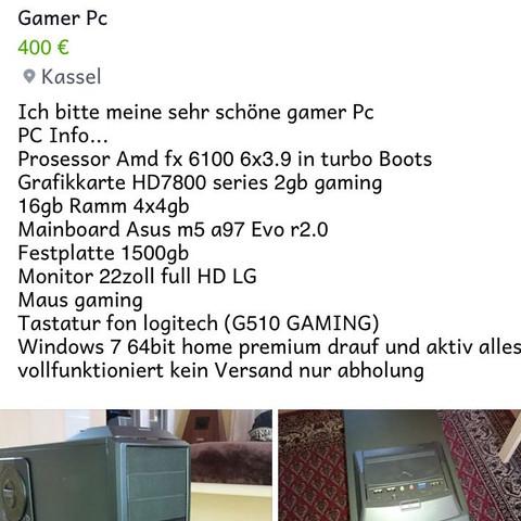 Gamer pc - (Computer, PC, Gamer)