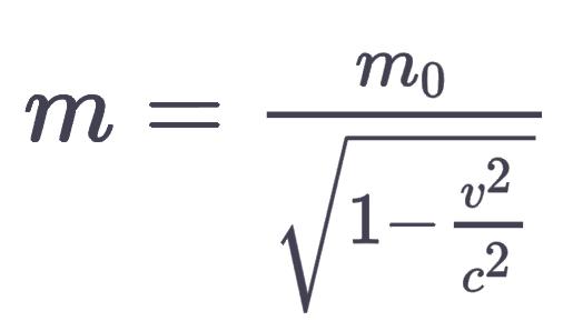 relativistische Massenzunahme nach v ? (Mathematik, Physik)