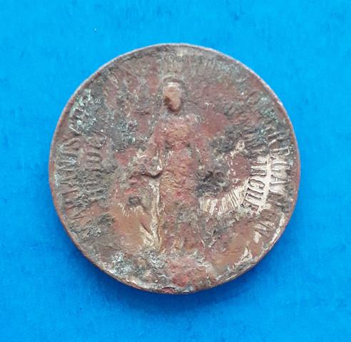 Relgiöse Münze schwer zu erkennen, falsch gelagert?