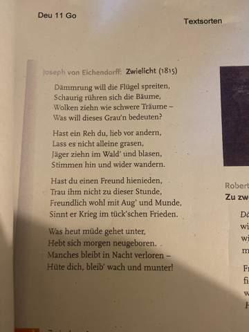 Joseph eichendorff glück analyse von Glück Joseph