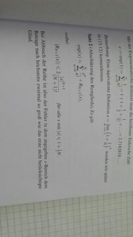 Restgliedabschätzung Exponentialreihe?
