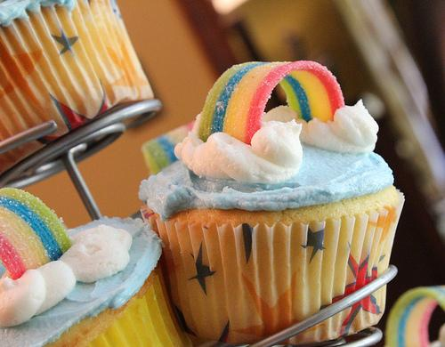 Rezept Fur Rainbow Cupcake Backen Cupcakes Glasur