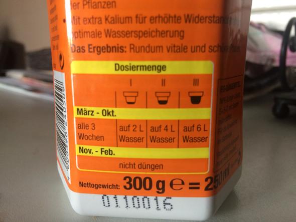 Dosierung  - (Pflanzen, Gärtner, Dünger)