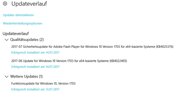 Updateverlauf - (Computer, Windows)