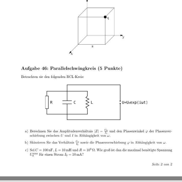 rlc schwingkreis amplitudenverh ltnis phasenwinkel. Black Bedroom Furniture Sets. Home Design Ideas