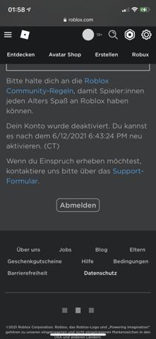 Roblox ban abgelaufen?