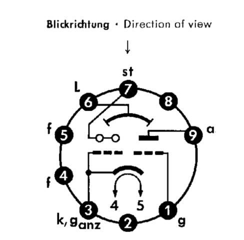 Röhre EM87 Magisches Band ansteuern Schaltplan Erklärung (Elektronik ...