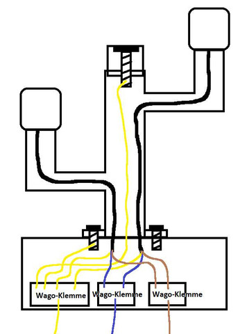 Schalt-Skizze - (Elektronik, Strom, Kabel)