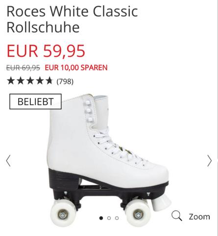 Roces White Classic Rollschuhe