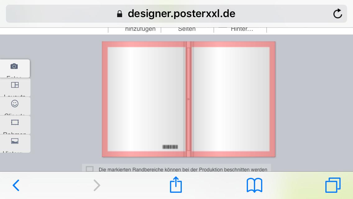 rosanen rand entfernen bei fotobuch von poster xxl. Black Bedroom Furniture Sets. Home Design Ideas