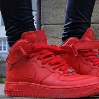 Nike Air Force Rot Damen