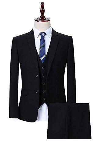 detaillierter Blick so billig hell im Glanz Rotes Hemd / Schwarzer Anzug als Hochzeitsgast in Ordnung ...