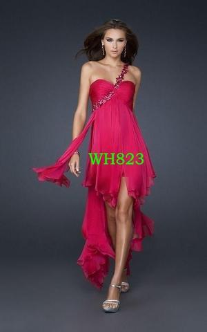 Rot/pinkes Kleid und Goldene Schuhe+ Tasche Hochzeit? (Gold, pink)