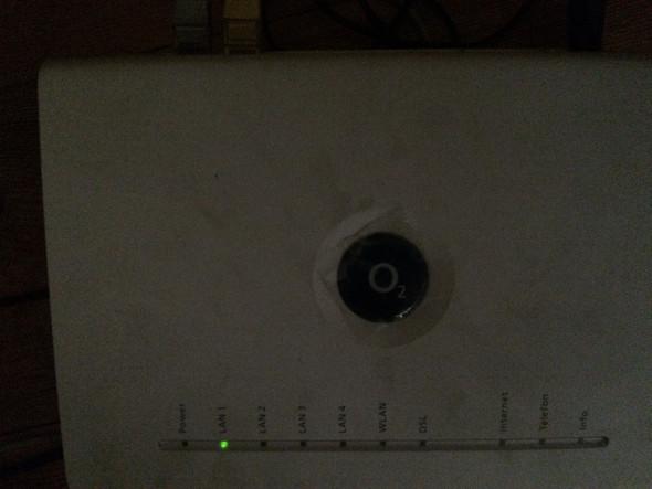 Mein Router, nur die lan 1 Lampe leuchtet - (Router, DSL)