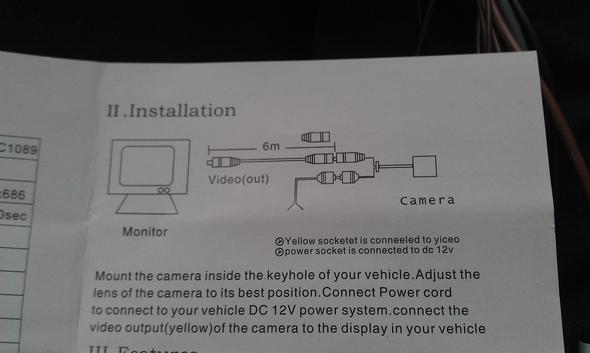 Wie verkabelt man diese Rückfahrkamera? (Radio, Autoradio, Stecker)
