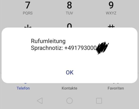 Rufumleitung Sprachnotiz bei Anruf?