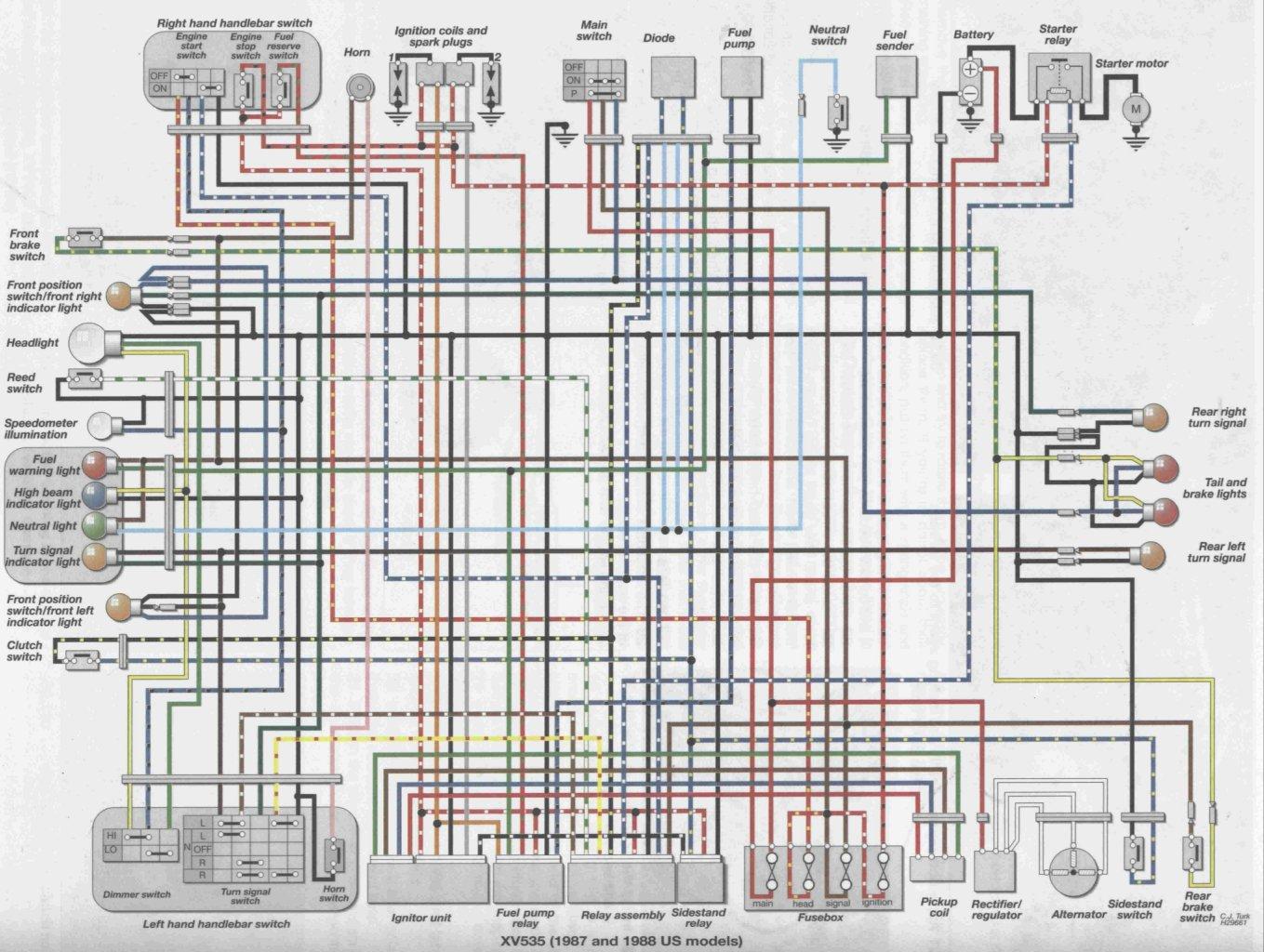 A Wiring Diagram For 83 Shovelhead Library Turn Signal 1984 Honda Vt500c Color Diagrams Data Base Rh Alfrescosolutions Co Shadow