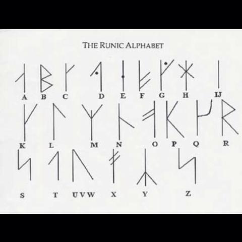 1. Runen Alphabet - (Wort, alphabet, Runen)