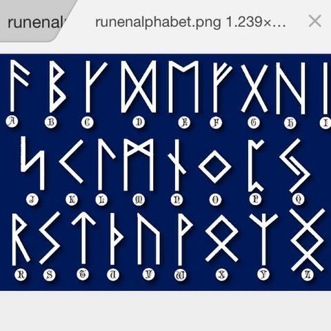 2. Runen Alphabet - (Wort, alphabet, Runen)