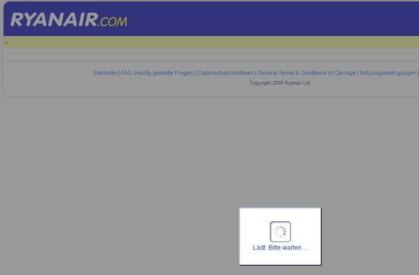 So bleibt es lange Zeit - (Internetseite, Firefox, Ryanair)