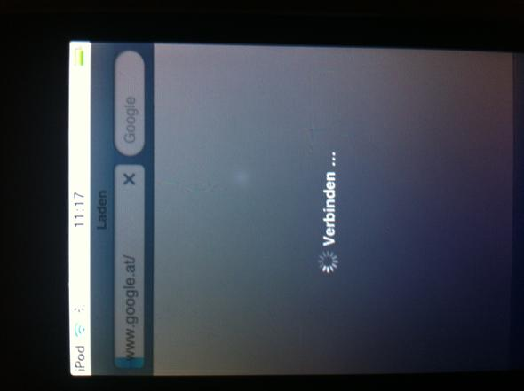 So sieht das aus, ich kann nichts tun - (Apple, Ipod touch Browser)