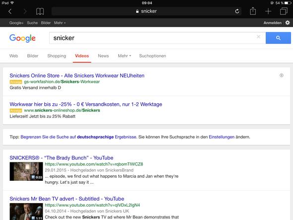 """So ungefähr sah es dafor aus, bloß halt auch bei """"Web"""" - (Google, Design, Safari)"""