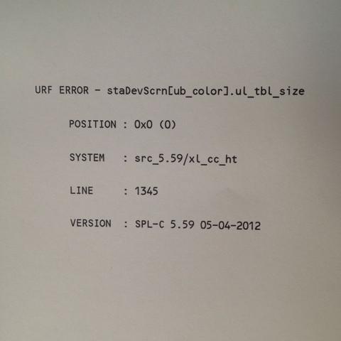 Die Fehlermeldung - (Technik, Drucker)