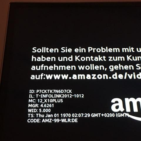 Diese Meldung kommt wenn ich Amazon Video öffnen möchte  - (Fernseher, Amazon, Fehlermeldung)