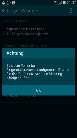 Fingerabdruck-Manager - (Handy, Samsung, Samsung galaxy s5)