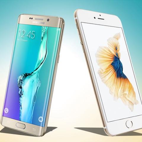 Links: Samsung Rechts: Apple - (Handy, Apple, Samsung)