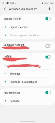 Samsung Kalender Synchronisieren?