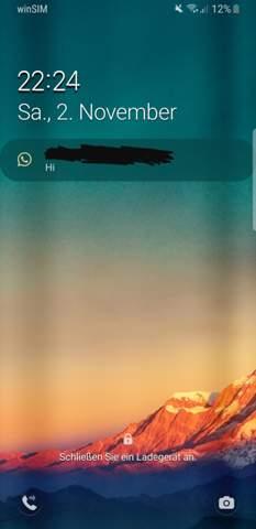 Samsung S8 Benachrichtigung ohne Pop Up?