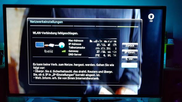 Samsung TV verbindet mit WLAN nicht?