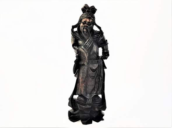 Samurai Statue aus Holz?